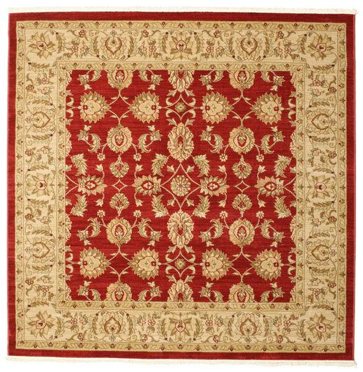 Ziegler Kaspin - Czerwony Dywan 192X192 Orientalny Kwadratowy Jasnobrązowy/Ciemnobeżowy ( Turcja)