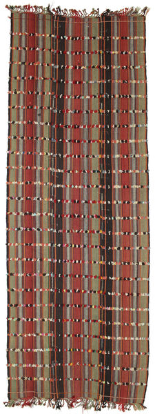 Kilim Konya Cicim Dywan 161X433 Orientalny Tkany Ręcznie Chodnik Ciemnobrązowy/Ciemnoczerwony (Wełna, Turcja)
