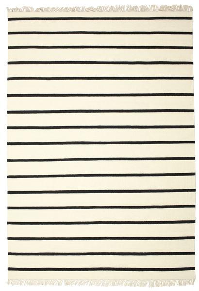 Dorri Stripe - White/Czarny Dywan 220X320 Nowoczesny Tkany Ręcznie Beżowy/Biały/Creme (Wełna, Indie)