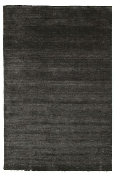 Handloom Fringes - Czarny/Szary Dywan 200X300 Nowoczesny Czarny (Wełna, Indie)