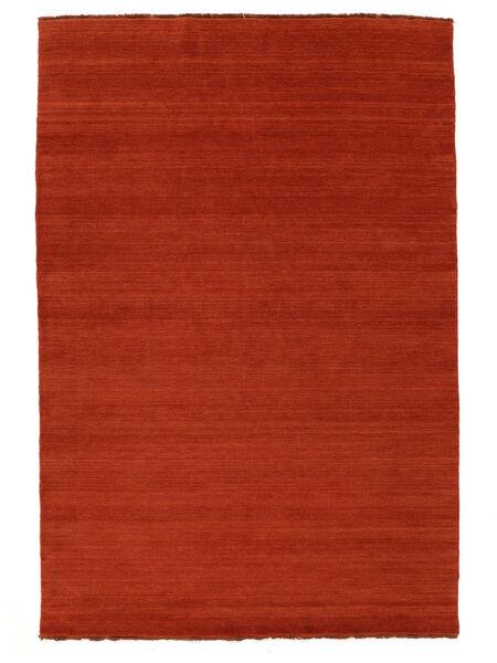 Handloom Fringes - Rdzawy/Czerwony Dywan 160X230 Nowoczesny Rdzawy/Czerwony/Pomarańczowy (Wełna, Indie)