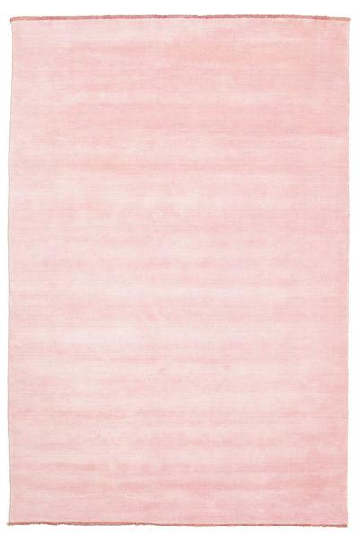 Handloom Fringes - Różowy Dywan 200X300 Nowoczesny Jasnoróżowy (Wełna, Indie)