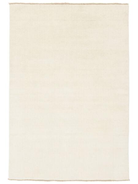 Handloom Fringes - Jasny Dywan 140X200 Nowoczesny Beżowy/Biały/Creme (Wełna, Indie)