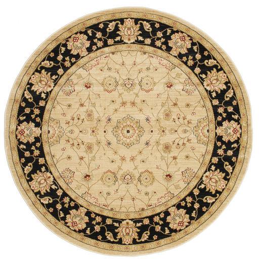 Farahan Ziegler - Beżowy Dywan Ø 200 Orientalny Okrągły Ciemnobeżowy/Jasnobrązowy/Beżowy ( Turcja)