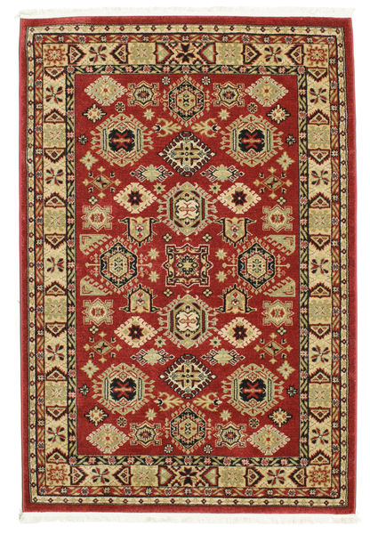 Szyrwan Kazak Dywan 140X200 Orientalny Ciemnoczerwony/Ciemnobrązowy ( Turcja)
