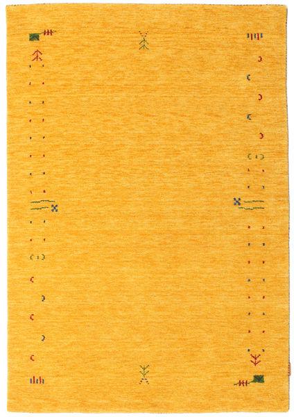 Gabbeh Loom Frame - Żółty Dywan 140X200 Nowoczesny Pomarańczowy (Wełna, Indie)