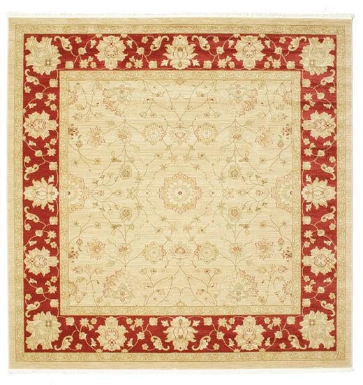 Farahan Ziegler - Beżowy/Czerwony Dywan 300X300 Orientalny Kwadratowy Beżowy/Ciemnobeżowy Duży ( Turcja)