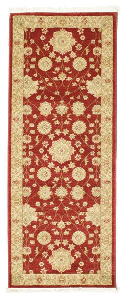 Farahan Ziegler - Czerwony Dywan 80X200 Orientalny Chodnik Ciemnobeżowy/Ciemnoczerwony ( Turcja)