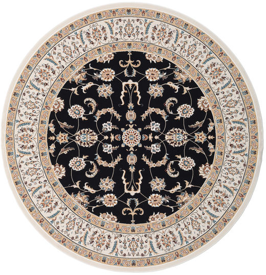 Nain Neizar Dywan Ø 250 Orientalny Okrągły Beżowy/Czarny Duży ( Turcja)