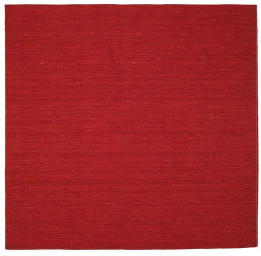 Kilim Loom - Ciemnoczerwony Dywan 250X250 Nowoczesny Tkany Ręcznie Kwadratowy Czerwony Duży (Wełna, Indie)