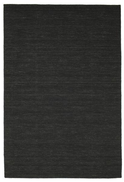 Kilim Loom - Czarny Dywan 200X300 Nowoczesny Tkany Ręcznie Czarny (Wełna, Indie)