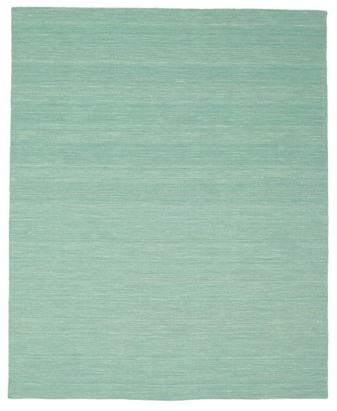 Kilim Loom - Mint Zielony Dywan 200X250 Nowoczesny Tkany Ręcznie Pastel Zielony/Turkusowy Niebieski (Wełna, Indie)