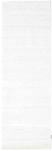 Bamboo Jedwab Loom - Jasny Natural Dywan 80X300 Nowoczesny Chodnik Beżowy/Biały/Creme ( Indie)