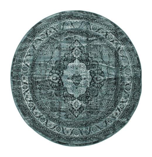 Jacinda - Ciemny Dywan Ø 200 Nowoczesny Okrągły Turkusowy Niebieski/Ciemnoniebieski ( Turcja)