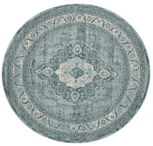Jacinda - Jasny Dywan Ø 200 Nowoczesny Okrągły Ciemnoszary/Niebieski ( Turcja)