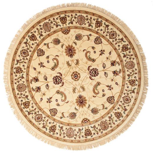 Sarina - Beżowy Dywan Ø 200 Nowoczesny Okrągły Beżowy/Ciemnobeżowy/Brązowy ( Turcja)