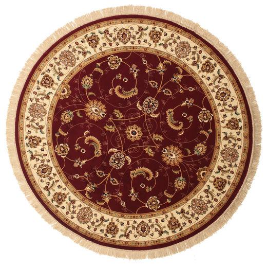 Sarina - Rdzawy Dywan Ø 200 Nowoczesny Okrągły Ciemnoczerwony/Jasnobrązowy ( Turcja)