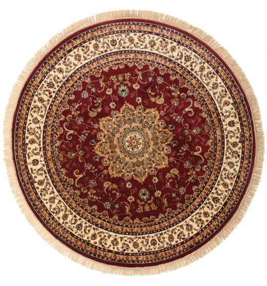 Nahal - Rdzawy Dywan Ø 200 Nowoczesny Okrągły Ciemnoczerwony/Beżowy ( Turcja)