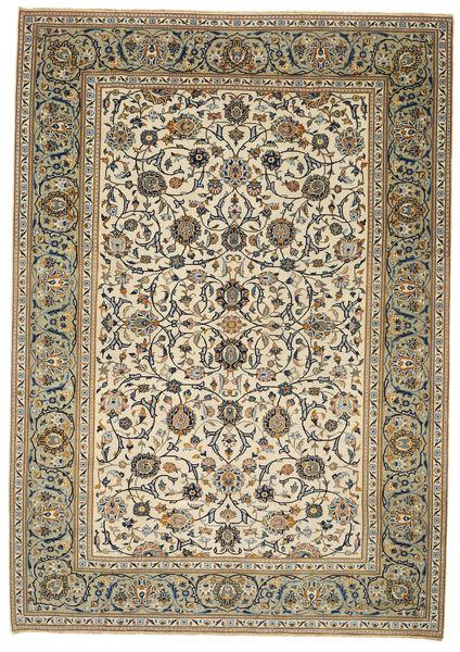 Keszan Patina Dywan 214X302 Orientalny Tkany Ręcznie Jasnobrązowy/Jasnoszary (Wełna, Persja/Iran)