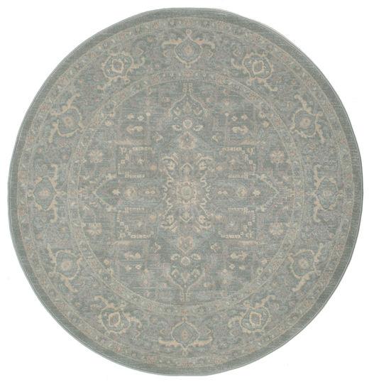 Ziegler Phoenix - Niebieski Dywan Ø 150 Orientalny Okrągły Jasnoszary ( Turcja)
