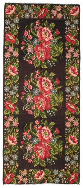 Kilim Rose Moldavia Dywan 165X287 Orientalny Tkany Ręcznie Czarny/Ciemnozielony (Wełna, Mołdawia)