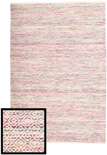 Hugo - Multi Różowy Dywan 140X200 Nowoczesny Tkany Ręcznie Jasnoróżowy/Jasnoszary ( Indie)