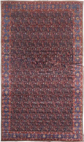 Senneh Dywan 368X639 Orientalny Tkany Ręcznie Ciemnobrązowy/Fioletowy Duży (Wełna, Persja/Iran)