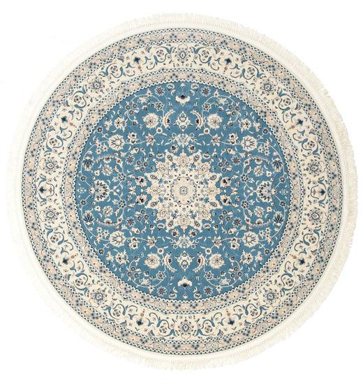 Nain Emilia - Jasnoniebieski Dywan Ø 150 Orientalny Okrągły Beżowy/Jasnoszary ( Turcja)
