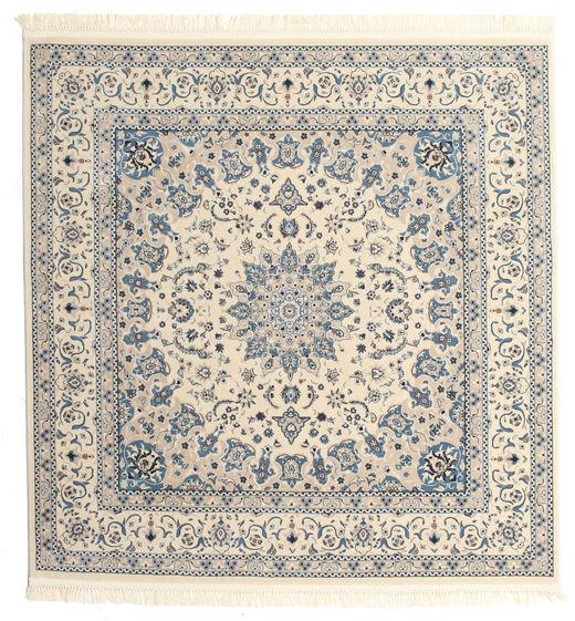 Nain Emilia - Beżowy/Niebieski Dywan 250X250 Orientalny Kwadratowy Jasnoszary/Beżowy Duży ( Turcja)