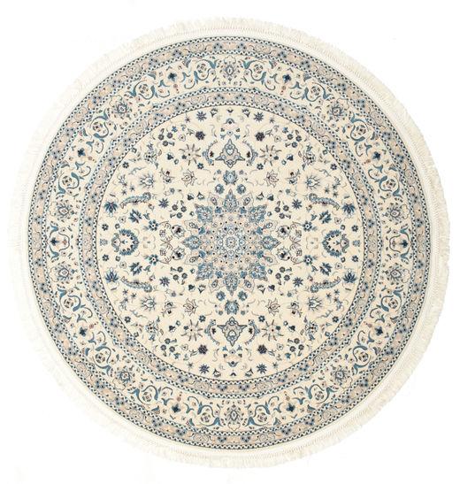 Nain Emilia - Cream/Jasny Niebieski Dywan Ø 200 Orientalny Okrągły Beżowy/Jasnoszary ( Turcja)