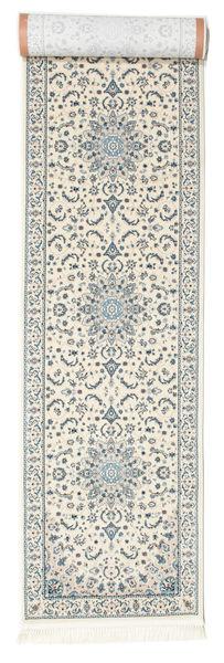 Nain Emilia - Cream/Jasny Niebieski Dywan 80X300 Orientalny Chodnik Jasnoszary/Beżowy ( Turcja)