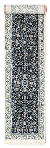Nain Florentine - Ciemnoniebieski Dywan 80X500 Orientalny Chodnik Jasnoszary/Ciemnoszary ( Turcja)