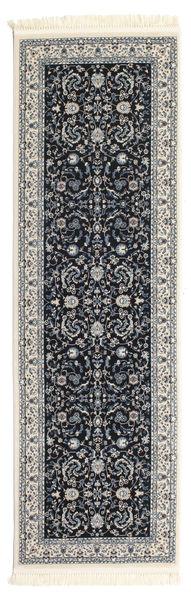 Nain Florentine - Ciemnoniebieski Dywan 80X250 Orientalny Chodnik Ciemnoszary/Jasnoszary ( Turcja)