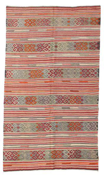 Kilim Pół -Antyk Tureckie Dywan 166X286 Orientalny Tkany Ręcznie Jasnoszary/Rdzawy/Czerwony (Wełna, Turcja)