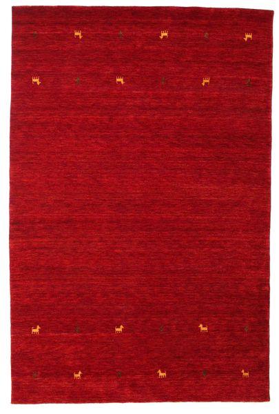 Gabbeh Loom Two Lines - Czerwony Dywan 190X290 Nowoczesny Czerwony/Ciemnoczerwony (Wełna, Indie)