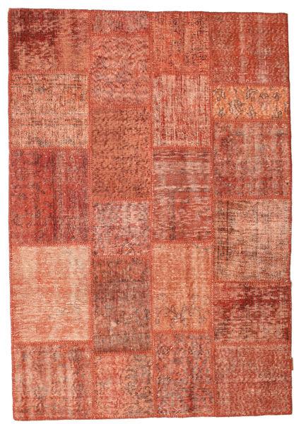 Patchwork Dywan 139X203 Nowoczesny Tkany Ręcznie Czerwony/Jasnoróżowy/Ciemnoczerwony (Wełna, Turcja)