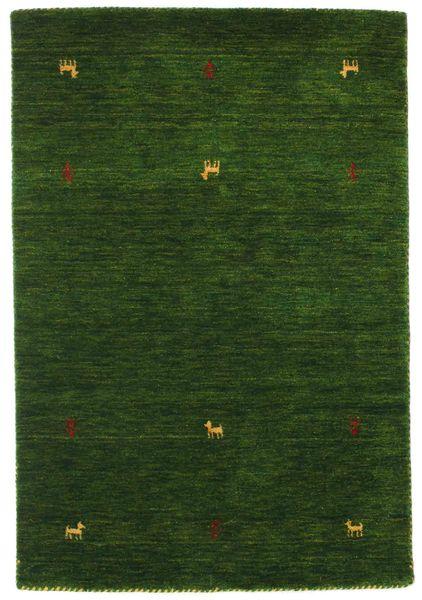Gabbeh Loom Two Lines - Zielony Dywan 100X160 Nowoczesny Ciemnozielony (Wełna, Indie)