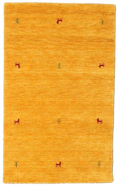 Gabbeh Loom Two Lines - Żółty Dywan 100X160 Nowoczesny Żółty/Pomarańczowy (Wełna, Indie)
