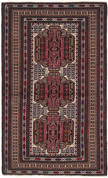 Beludż Dywan 103X182 Orientalny Tkany Ręcznie Ciemnobrązowy/Ciemnoczerwony (Wełna, Afganistan)