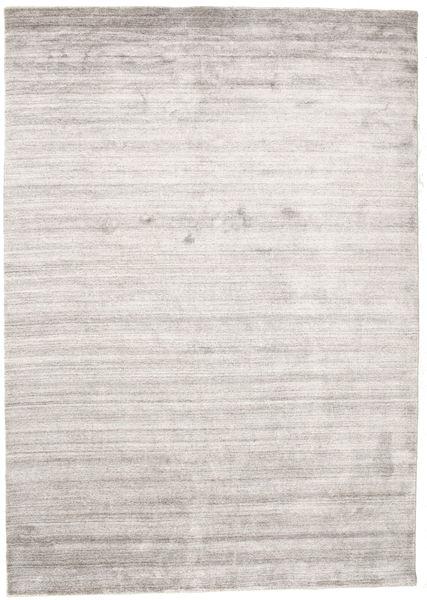 Bamboo Jedwab Loom - Warm Szary Dywan 160X230 Nowoczesny Jasnoszary/Biały/Creme ( Indie)