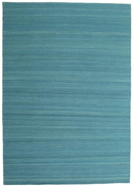 Kilim Loom - Morska Zieleń Dywan 160X230 Nowoczesny Tkany Ręcznie Niebieski/Turkusowy Niebieski (Wełna, Indie)