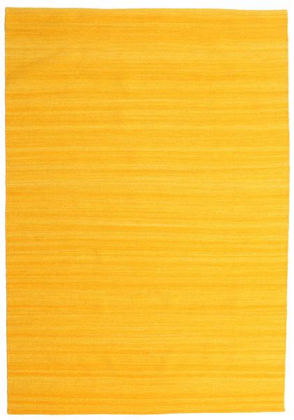 Kilim Loom - Żółty Dywan 160X230 Nowoczesny Tkany Ręcznie Pomarańczowy (Wełna, Indie)