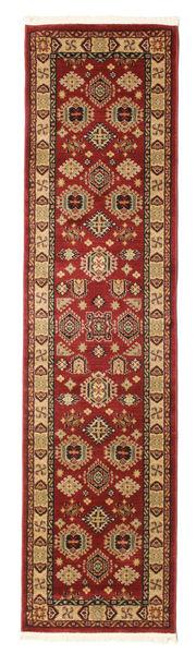 Szyrwan Kazak Dywan 80X300 Orientalny Chodnik Ciemnoczerwony/Jasnobrązowy ( Turcja)