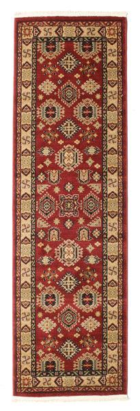 Szyrwan Kazak Dywan 80X250 Orientalny Chodnik Ciemnoczerwony/Jasnobrązowy ( Turcja)