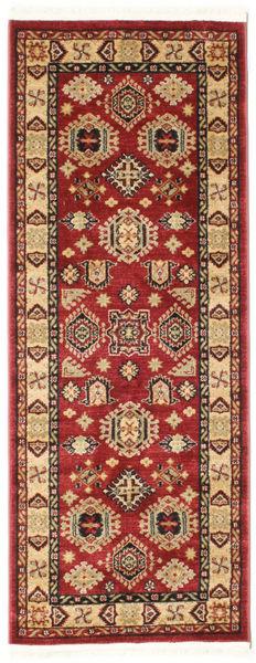 Szyrwan Kazak Dywan 80X200 Orientalny Chodnik Ciemnoczerwony/Ciemnobrązowy ( Turcja)