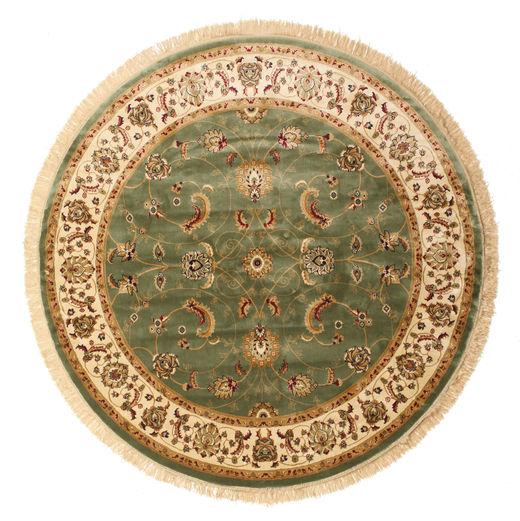 Sarina - Zielony Dywan Ø 200 Nowoczesny Okrągły Jasnobrązowy/Ciemnobeżowy ( Turcja)