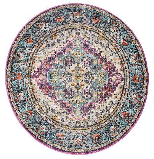 Maaike Dywan Ø 150 Nowoczesny Okrągły Jasnoszary/Ciemnoszary ( Turcja)