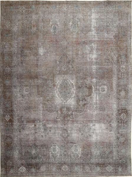 Colored Vintage Dywan 290X389 Nowoczesny Tkany Ręcznie Jasnoszary/Ciemnoszary Duży (Wełna, Persja/Iran)
