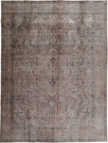 Colored Vintage Dywan 294X384 Nowoczesny Tkany Ręcznie Ciemnoszary/Ciemnobrązowy Duży (Wełna, Pakistan)