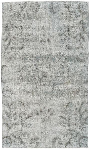 Colored Vintage Dywan 154X263 Nowoczesny Tkany Ręcznie Jasnoszary/Turkusowy Niebieski (Wełna, Turcja)